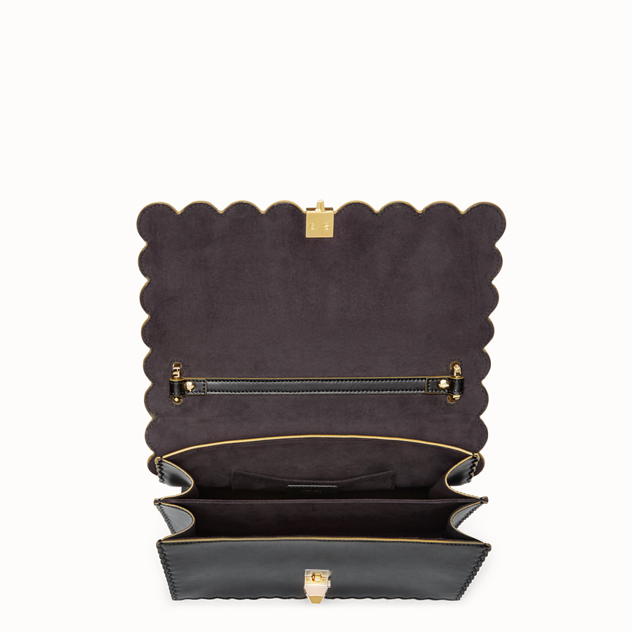 FENDI KAN I - Black and gold leather bag - view 4 detail