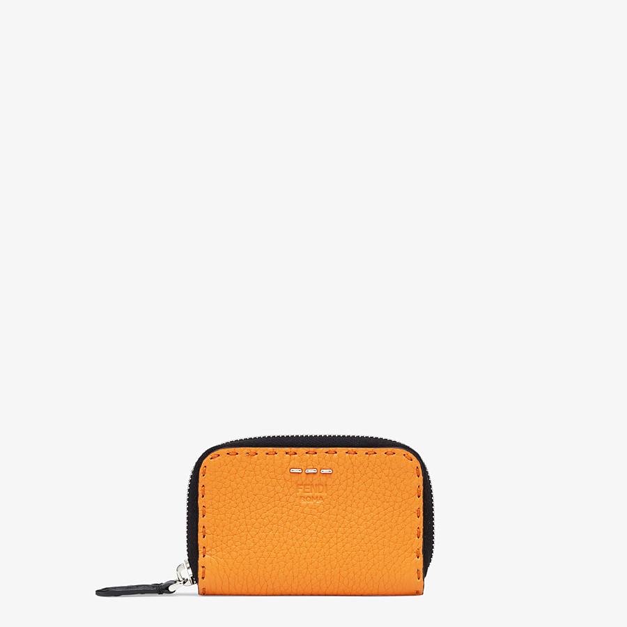 FENDI ZIP-AROUND - Orange leather wallet - view 1 detail