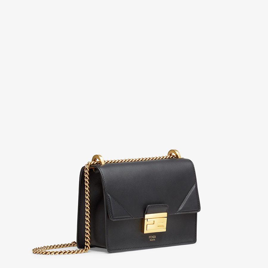 FENDI KAN U SMALL - Black leather mini-bag - view 2 detail