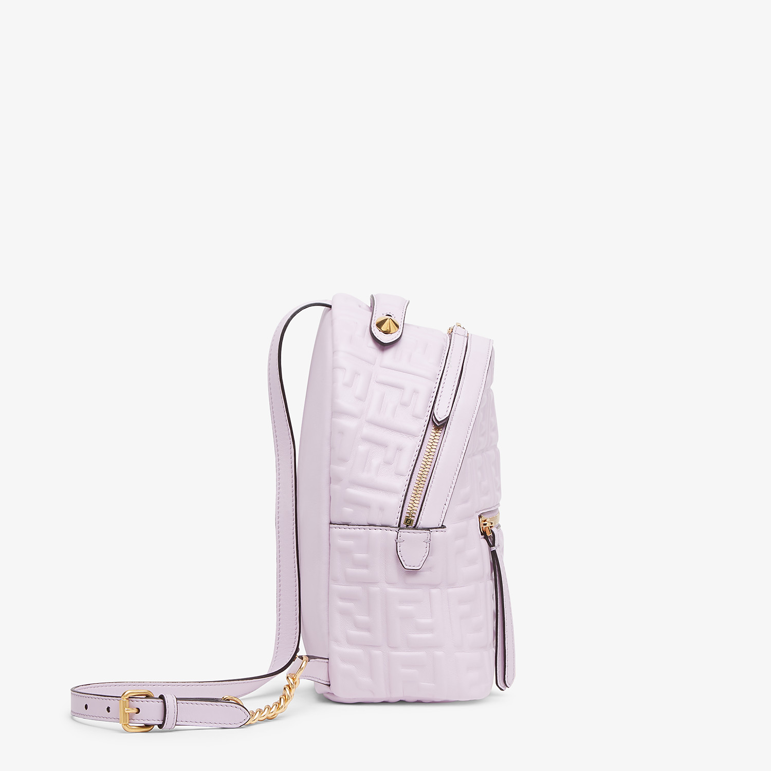 FENDI MINI BACKPACK - Lilac leather FF backpack - view 3 detail