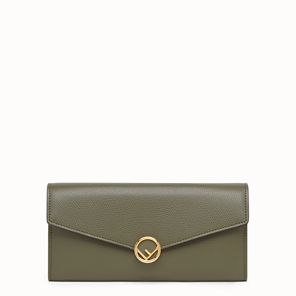 FENDI CONTINENTAL - Green leather wallet - view 1 small thumbnail