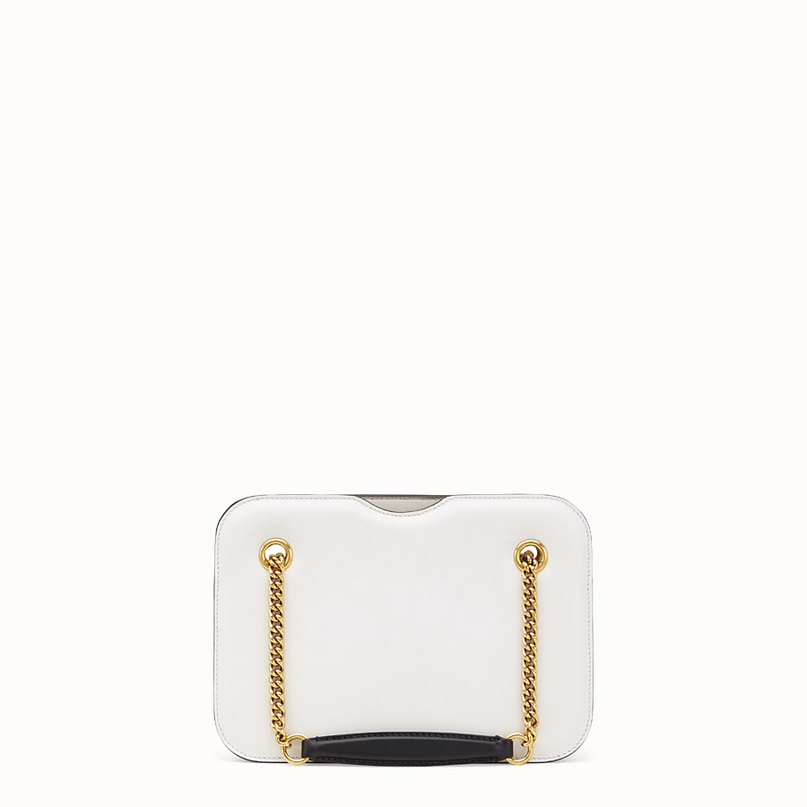 FENDI KARLIGRAPHY POCKET - White leather bag - view 4 detail