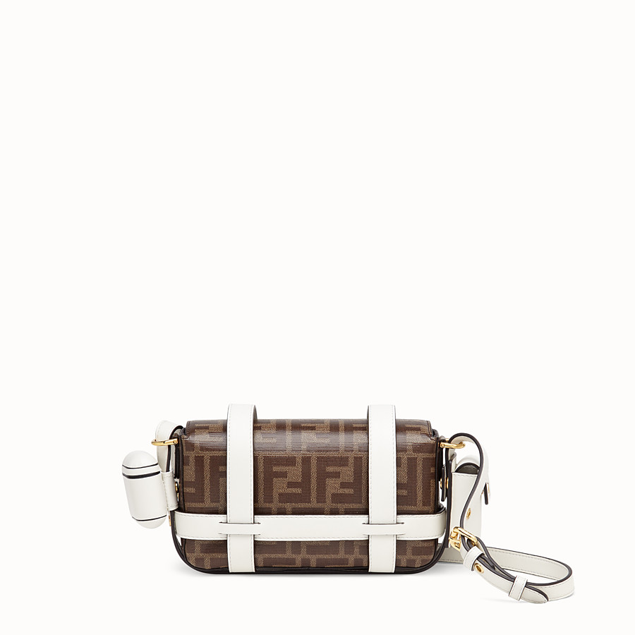 FENDI BAGUETTE MINI CAGE - Multicolour leather and fabric bag - view 5 detail