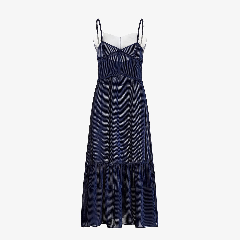 FENDI DRESS - Blue silk jacquard dress - view 1 detail