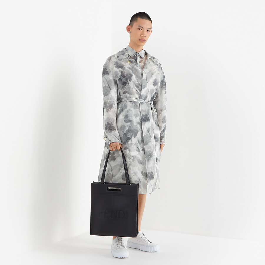 FENDI TRENCH COAT - Natural organza trench coat - view 4 detail