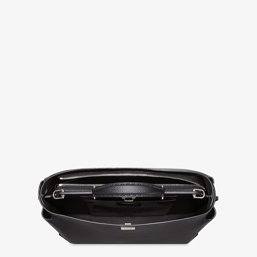 FENDI PEEKABOO ESSENTIAL - Black leather bag - view 4 detail