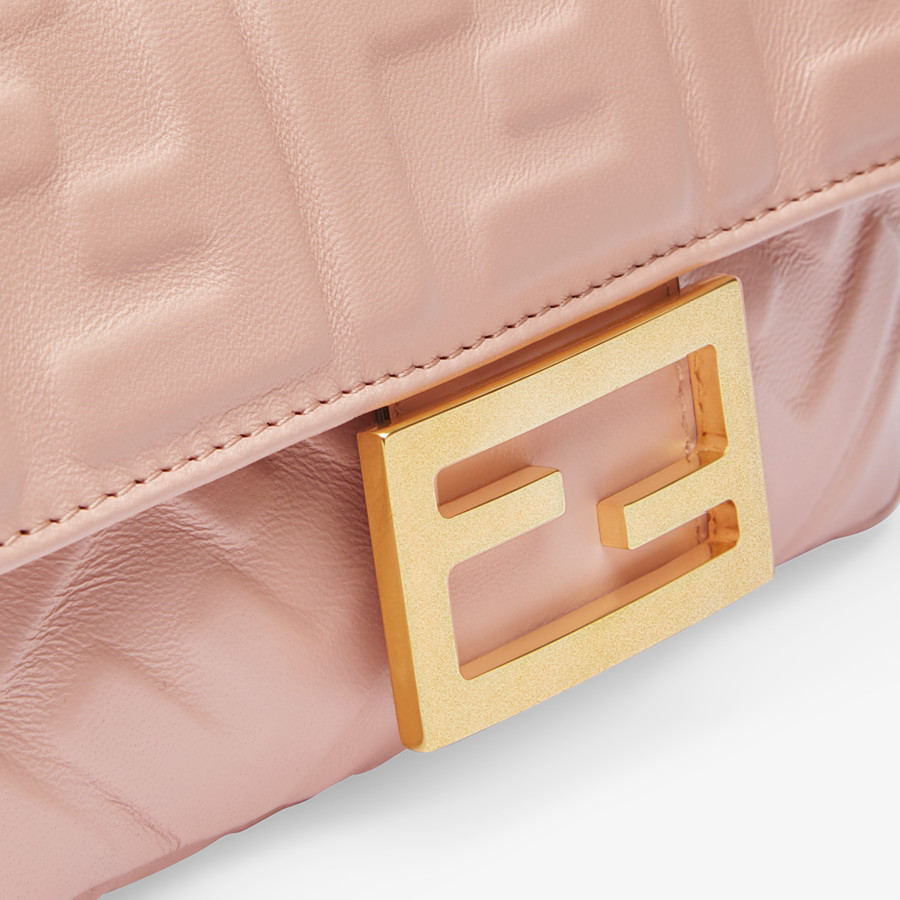 FENDI BAGUETTE - Pink nappa leather bag - view 6 detail