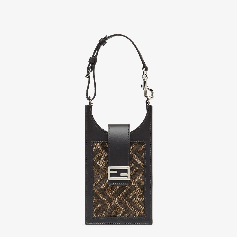 FENDI PHONE BAG - Brown fabric mobile phone holder - view 1 detail