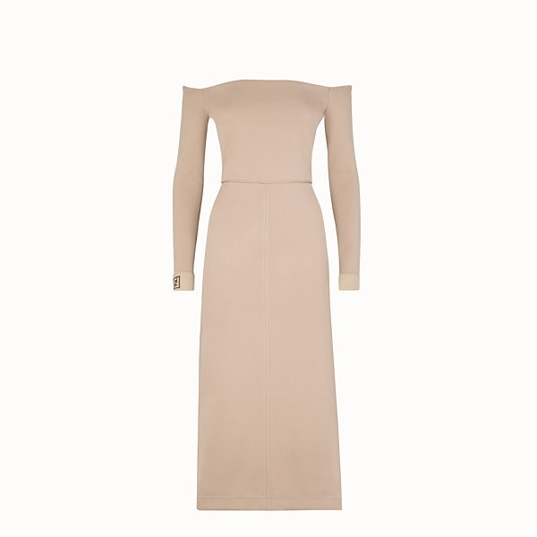 FENDI DRESS - Beige cotton dress - view 1 small thumbnail