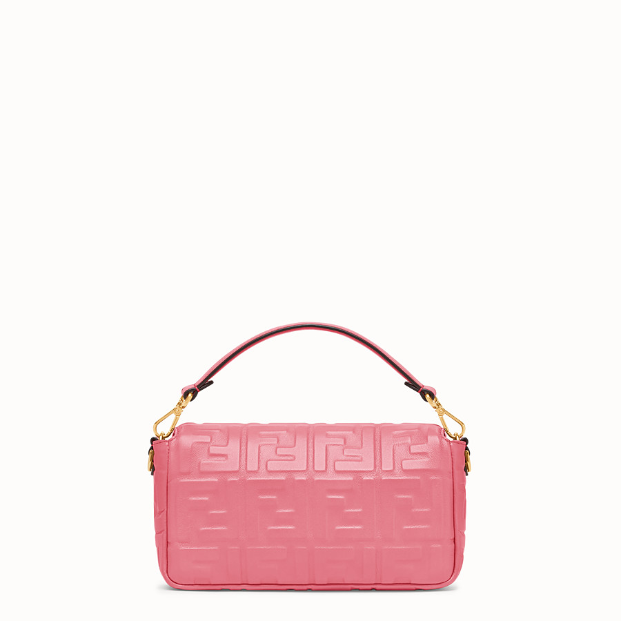 FENDI BAGUETTE - Sac en cuir rose - view 3 detail