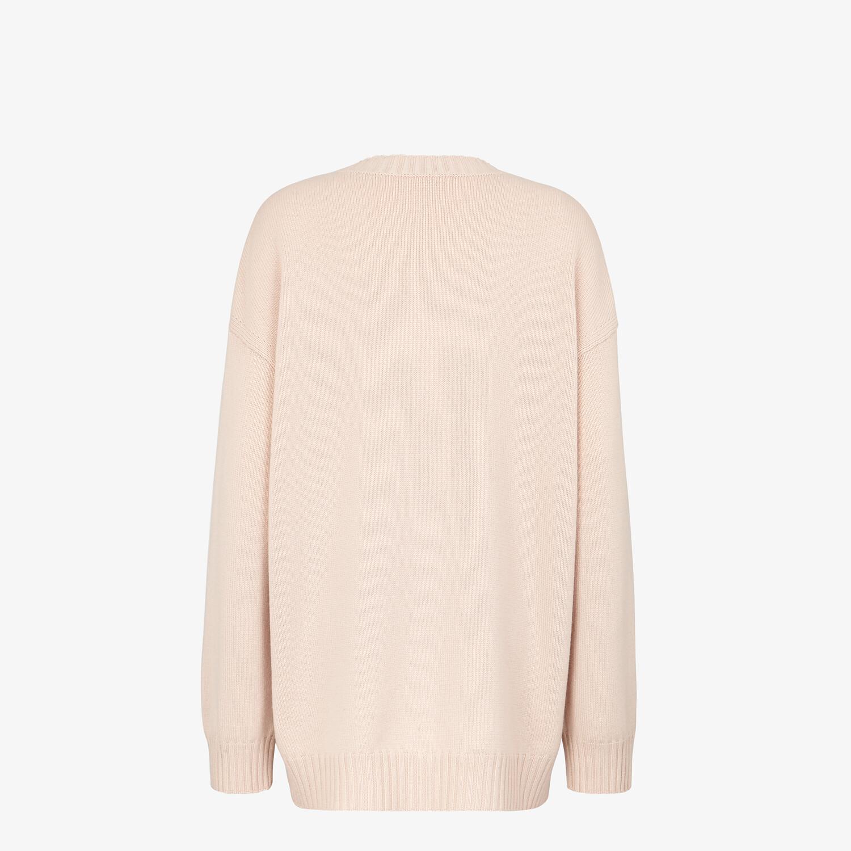 FENDI CARDIGAN - Pink cashmere cardigan - view 2 detail