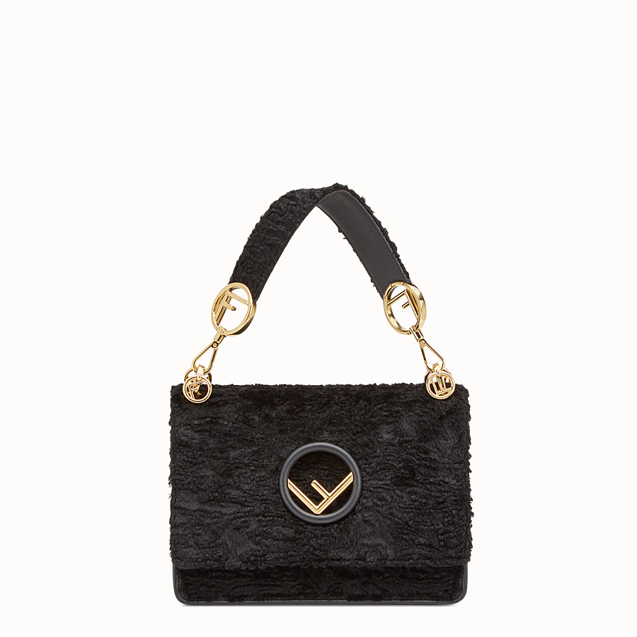 FENDI KAN I F - Black velvet bag - view 1 detail