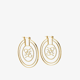 FENDI KARLIGRAPHY EARRINGS - Gold-colour earrings - view 1 thumbnail