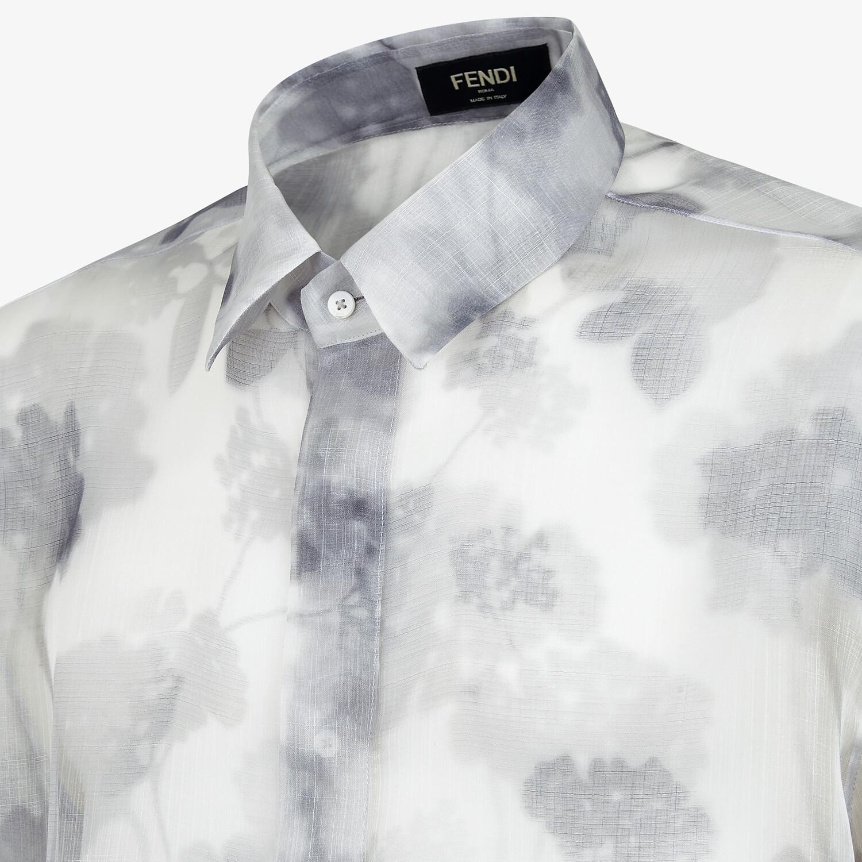 FENDI SHIRT - Natural organza shirt - view 3 detail