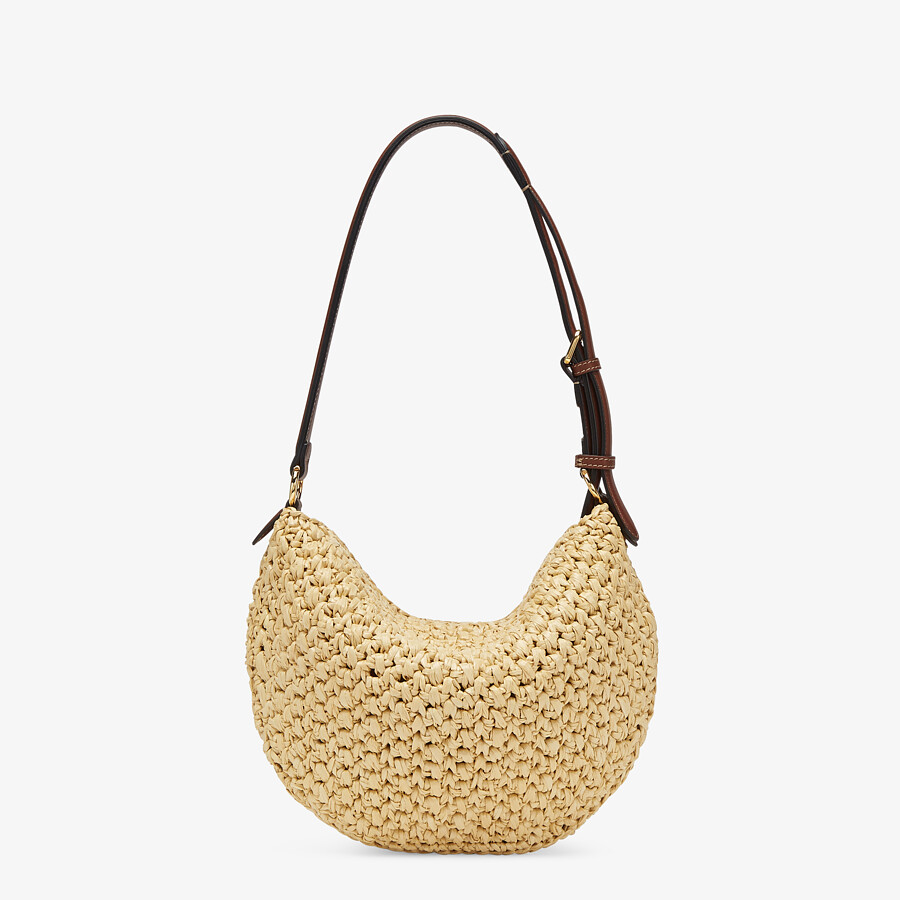 FENDI SMALL CROISSANT - Woven straw bag - view 4 detail