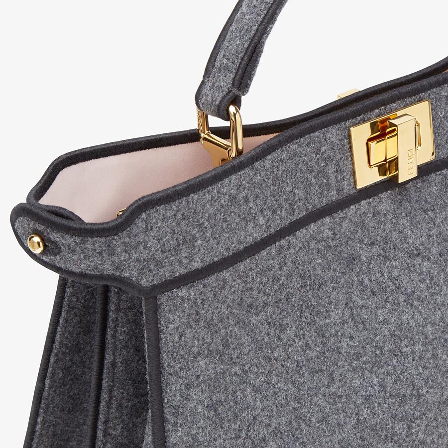 FENDI PEEKABOO I SEE U EAST-WEST - Gray flannel bag - view 6 detail