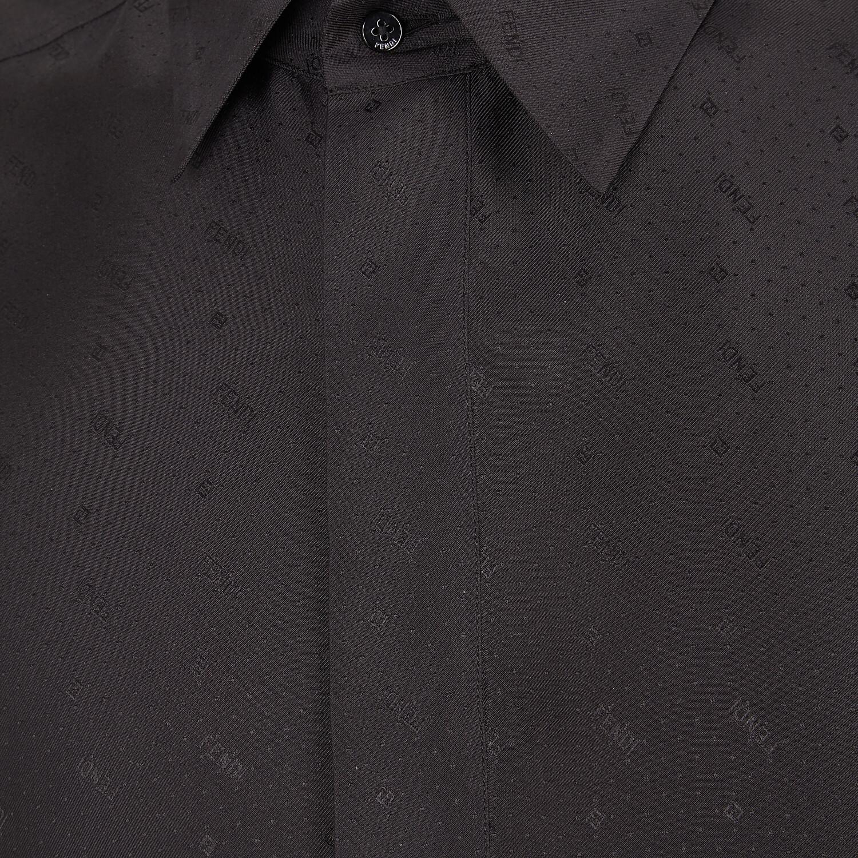 FENDI SHIRT - Black silk shirt - view 3 detail