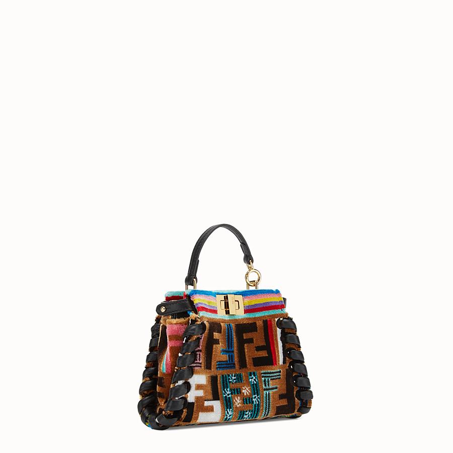 FENDI MICRO PEEKABOO - Multicolour leather and silk micro-bag - view 2 detail
