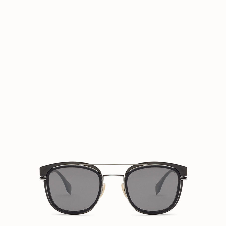 FENDI FENDI GLASS - Dark grey and dark ruthenium sunglasses - view 1 detail