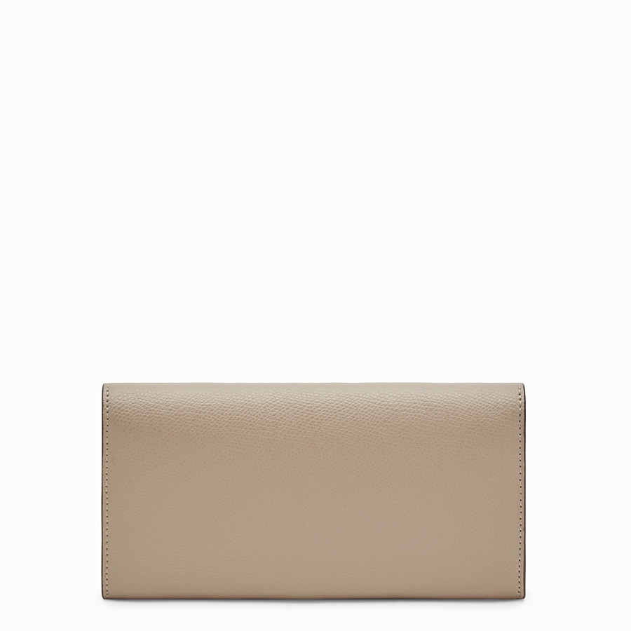 FENDI CONTINENTAL WITH CHAIN - Beige leather wallet - view 3 detail