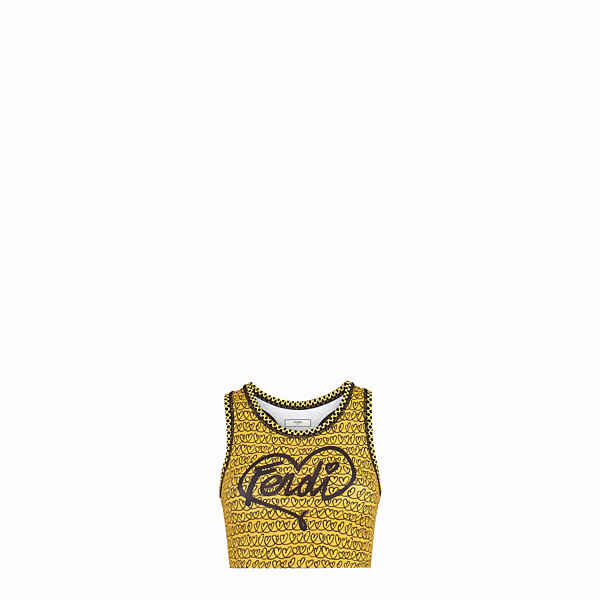 FENDI TOP - Yellow tech fabric top - view 1 small thumbnail