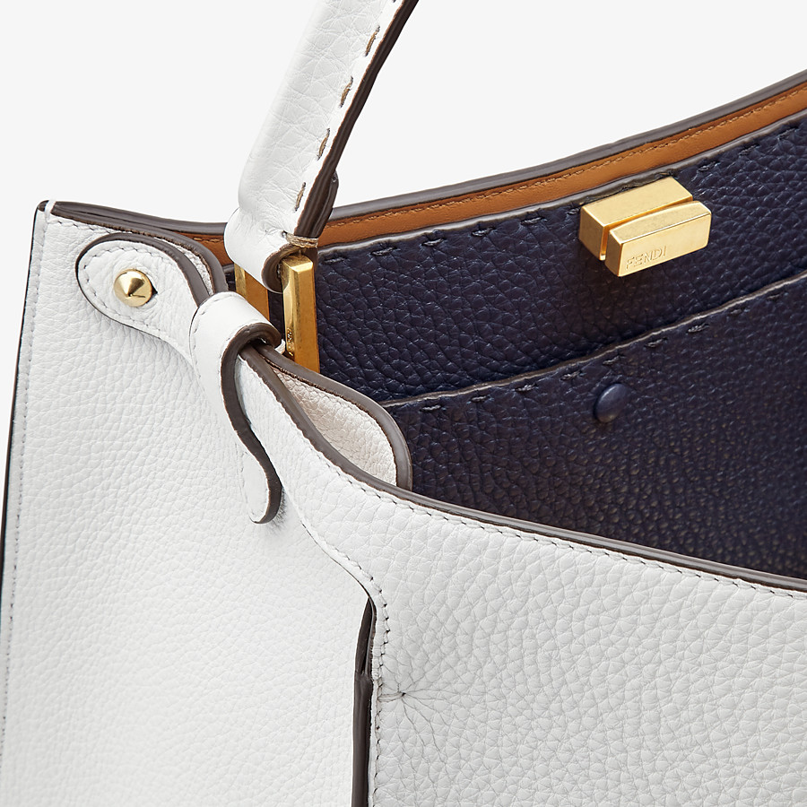 FENDI PEEKABOO X-LITE MEDIUM - White leather bag - view 6 detail