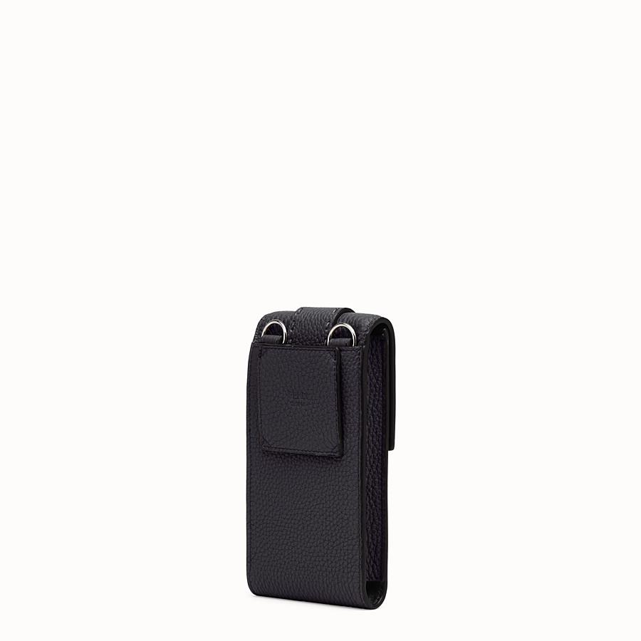 FENDI iPhone X ケース - ブラックレザー カバー - view 2 detail