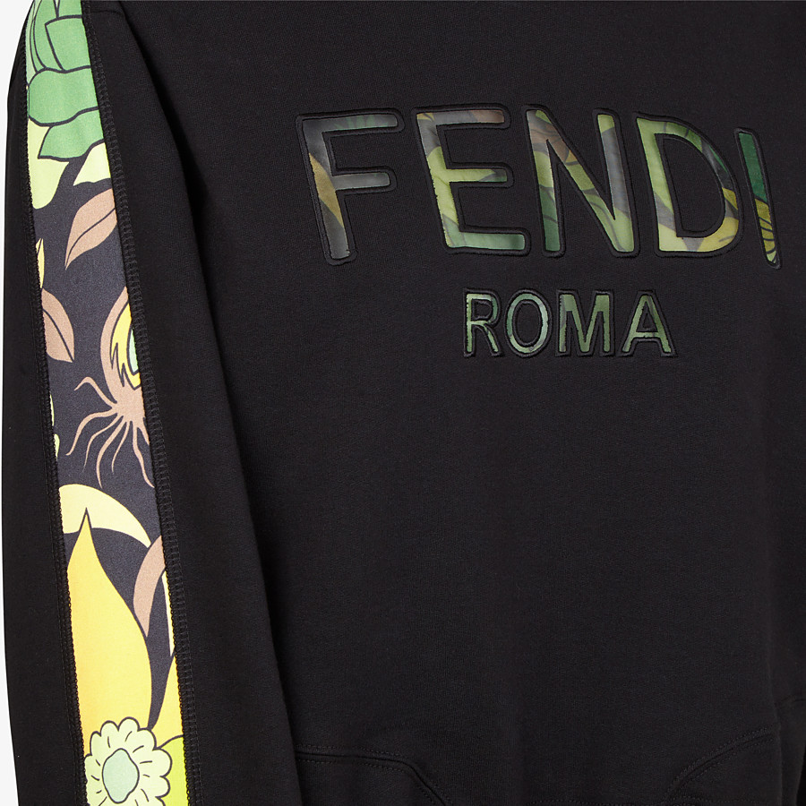 FENDI SWEATSHIRT - Black jersey sweatshirt - view 3 detail