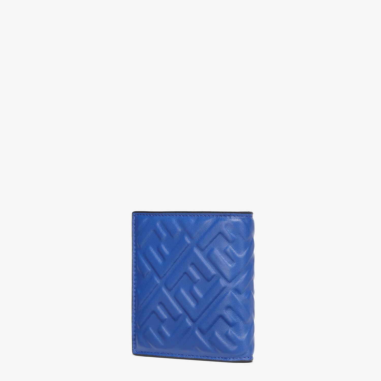 FENDI WALLET - Bi-fold wallet in blue nappa leather - view 2 detail