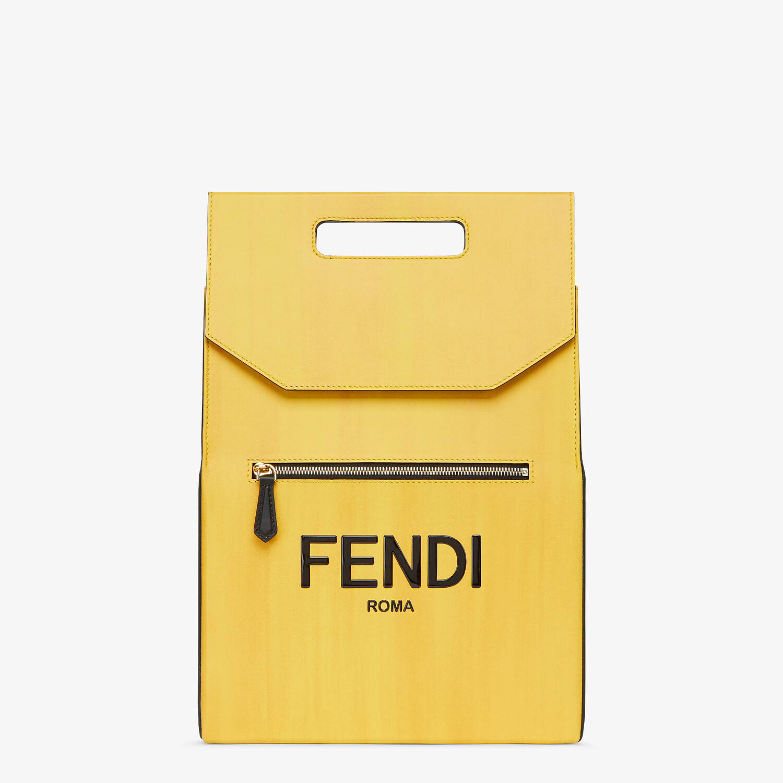 FENDI FENDI PACK BACKPACK - Yellow leather backpack - view 1 detail