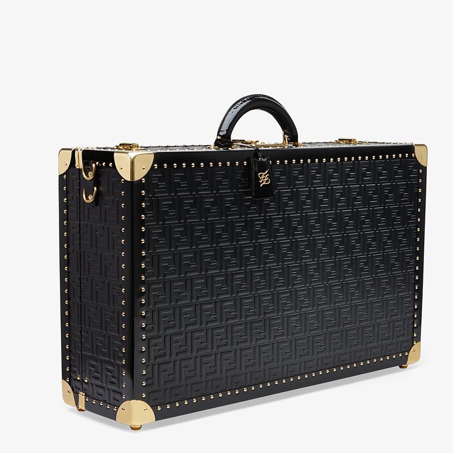 FENDI RIGID SUITCASE LARGE - Black leather suitcase - view 2 detail