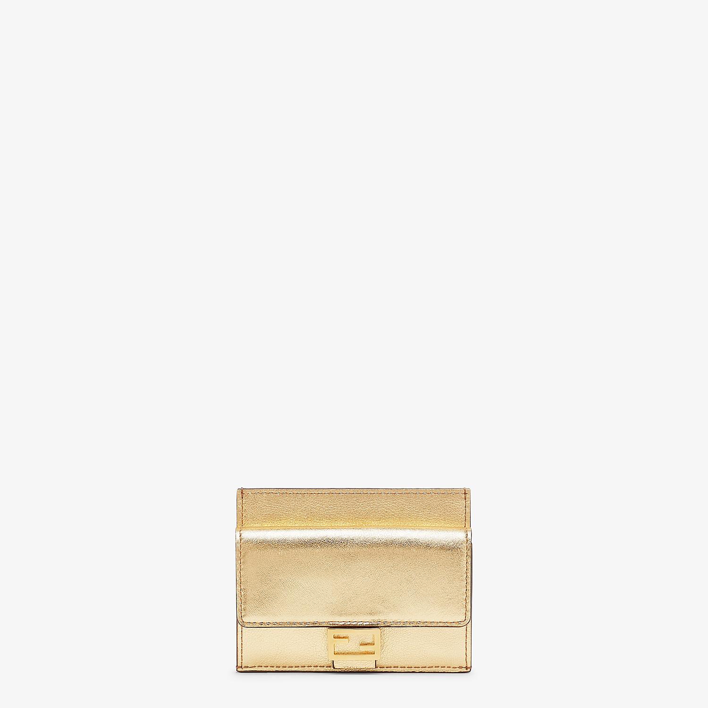 FENDI CARD HOLDER - Gold leather cardholder - view 1 detail