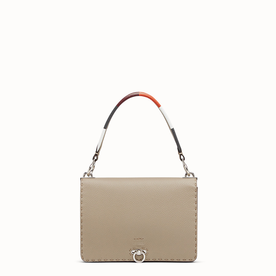 FENDI MESSENGER - Beige leather bag - view 1 detail