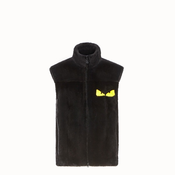 FENDI GILET - Black mink gilet - view 1 small thumbnail