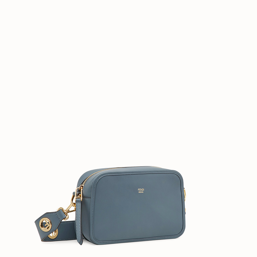 FENDI CAMERA CASE - Blue leather bag - view 2 detail