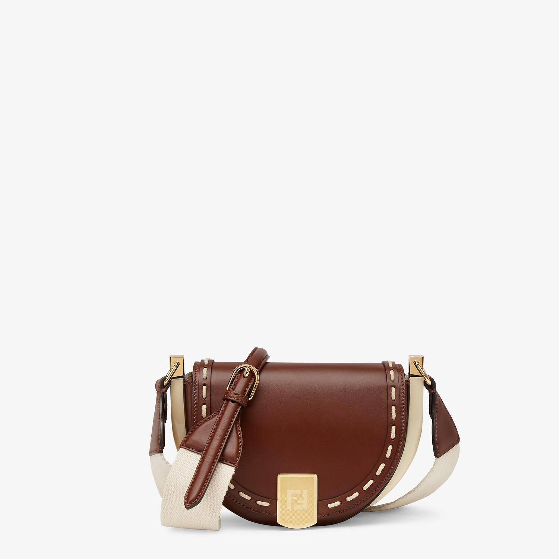 FENDI MOONLIGHT - Brown leather bag - view 1 detail