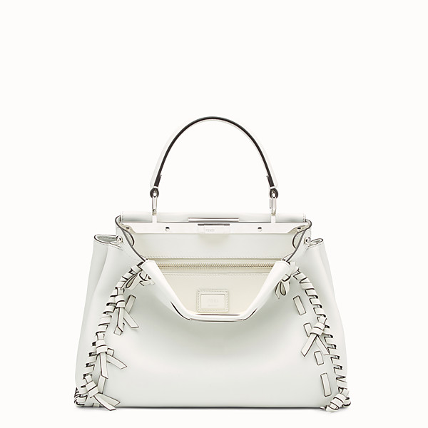 FENDI PEEKABOO REGULAR - White leather bag - view 1 small thumbnail