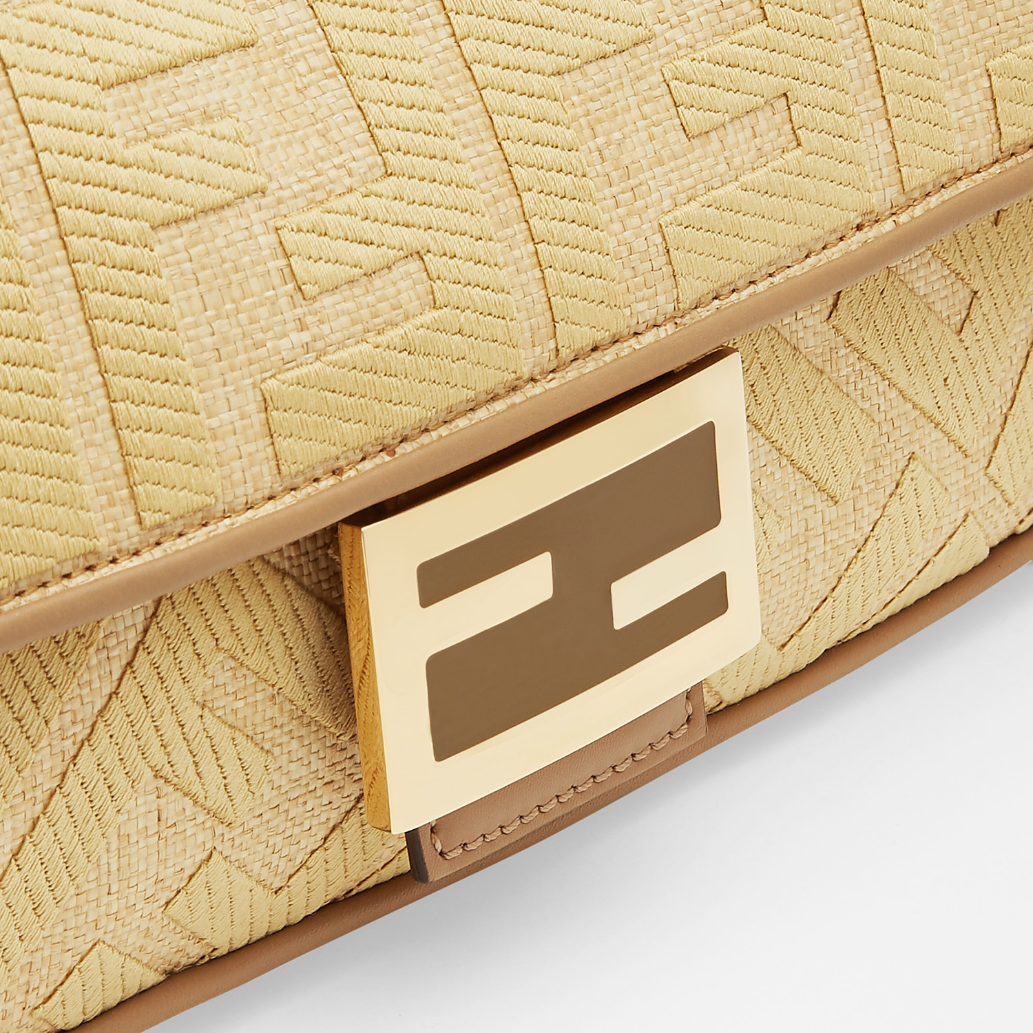 FENDI BAGUETTE - Natural straw bag - view 6 detail
