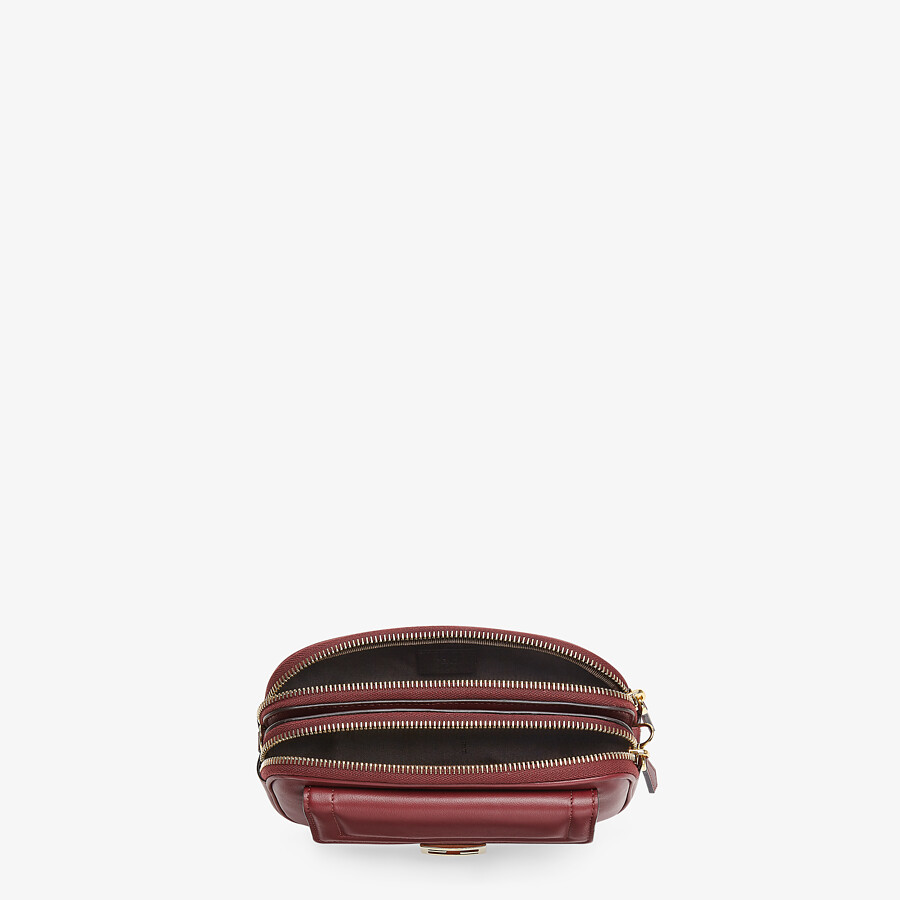 FENDI EASY 2 BAGUETTE - Burgundy leather mini bag - view 4 detail
