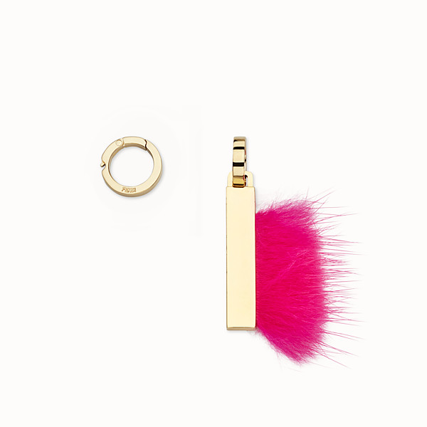 FENDI ABCLICK I - Pendant with pink fur - view 1 small thumbnail