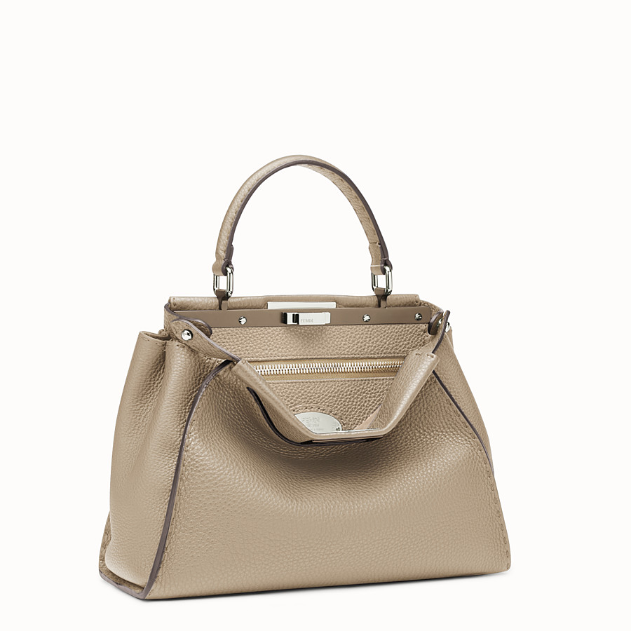 FENDI REGULAR PEEKABOO - Beige Selleria handbag - view 2 detail