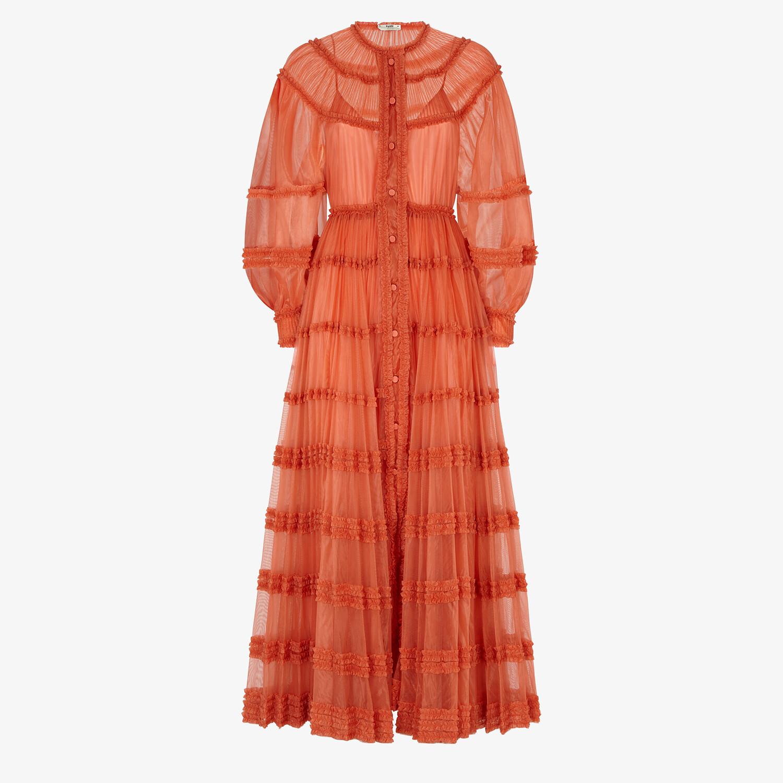 FENDI DRESS - Orange tech jersey dress - view 1 detail