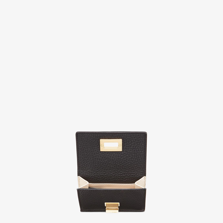FENDI MICRO TRIFOLD - Black leather wallet - view 3 detail