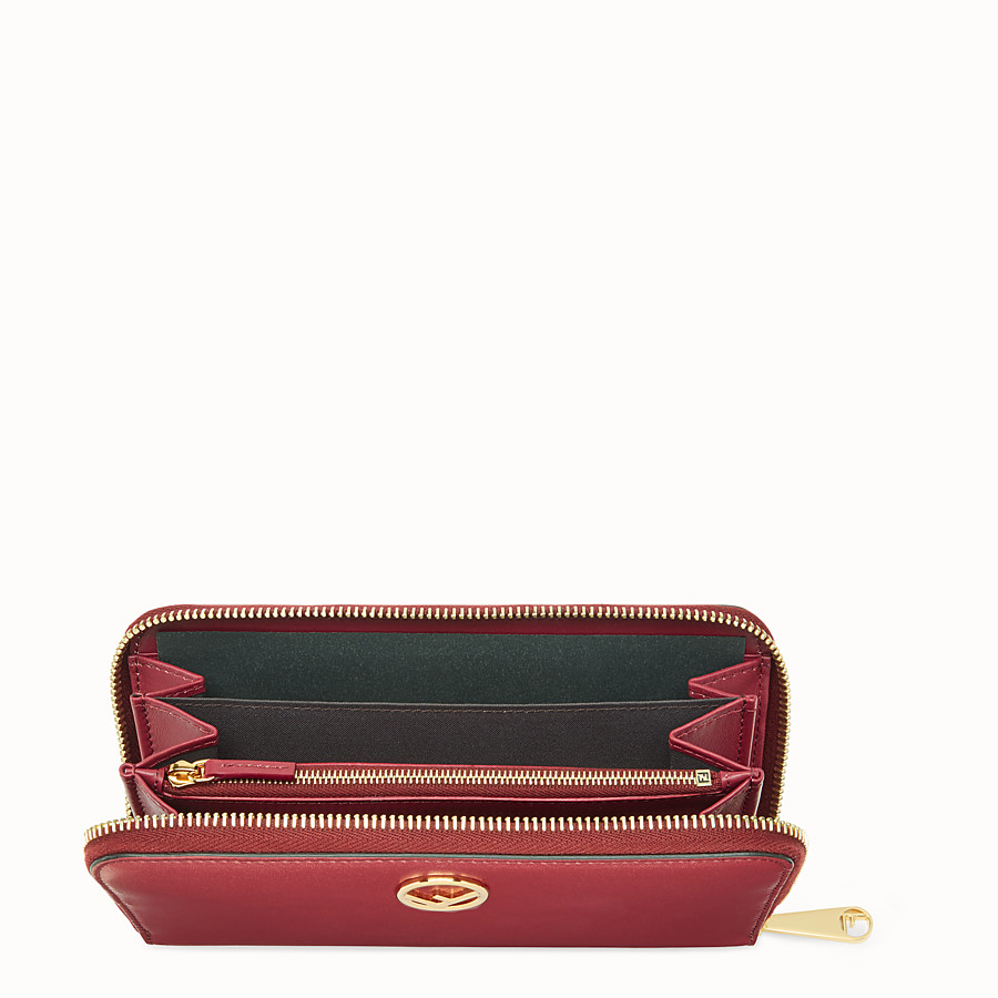 FENDI ZIP-AROUND - Red leather wallet - view 4 detail