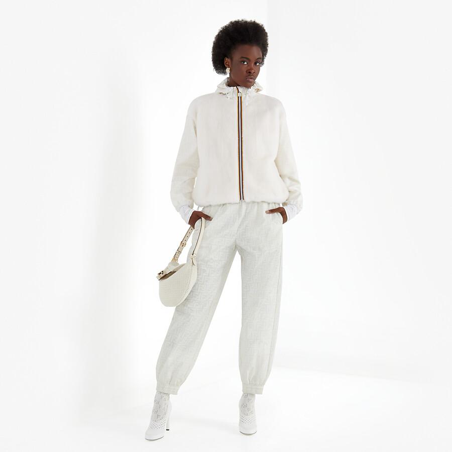FENDI WINDBREAKER - White mink jacket - view 5 detail