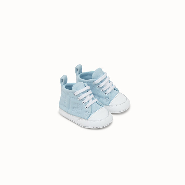 FENDI SNEAKERS - Light blue cotton baby sneakers - view 1 small thumbnail