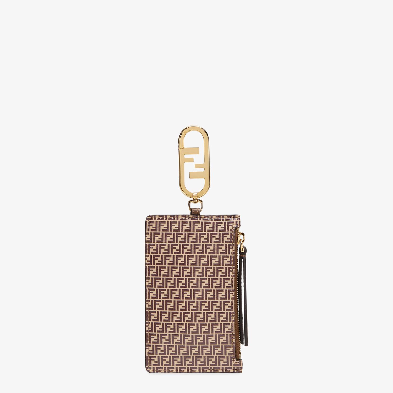 FENDI CARD HOLDER - Beige leather card holder - view 1 detail