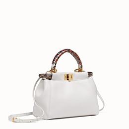 c3f240ecb4 White leather bag with exotic details - PEEKABOO MINI | Fendi