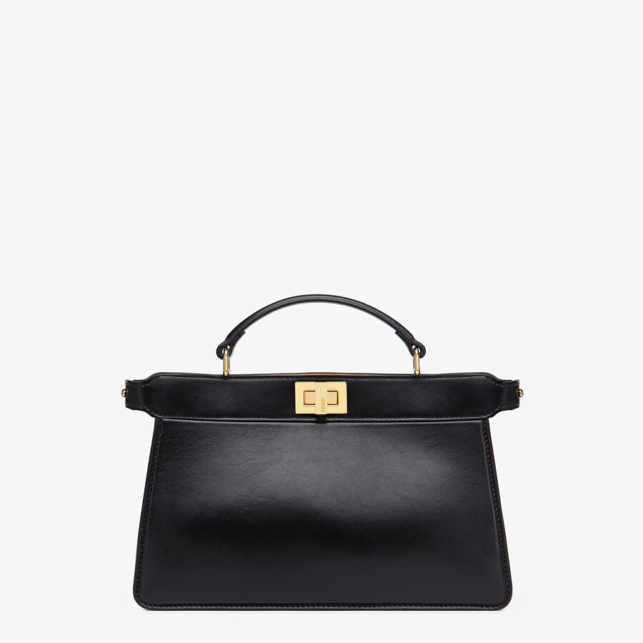 FENDI PEEKABOO ISEEU EAST-WEST - Black leather bag - view 1 detail