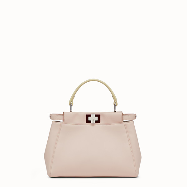 FENDI PEEKABOO MINI - handbag in pink nappa - view 1 small thumbnail